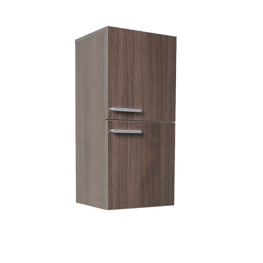 Fresca Armoire à linge latérale de salle de bain chêne gris avec 2 espaces de rangement