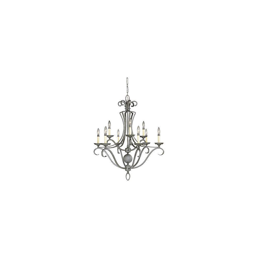 Progress Lighting Lustre à 6 lumières, collection Berkley - Fer doré
