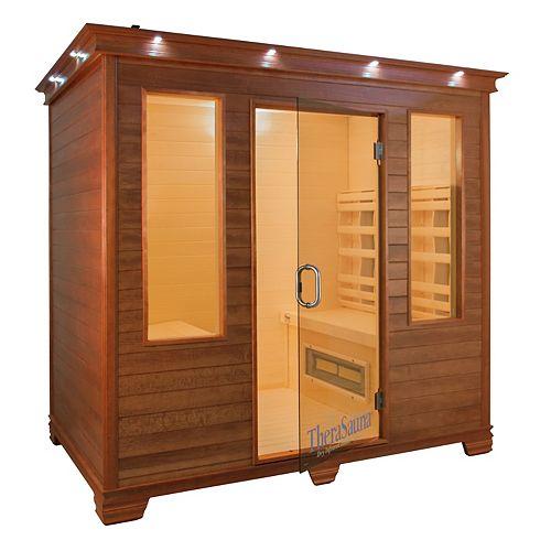 4 personne Face à infrarouge santé Sauna