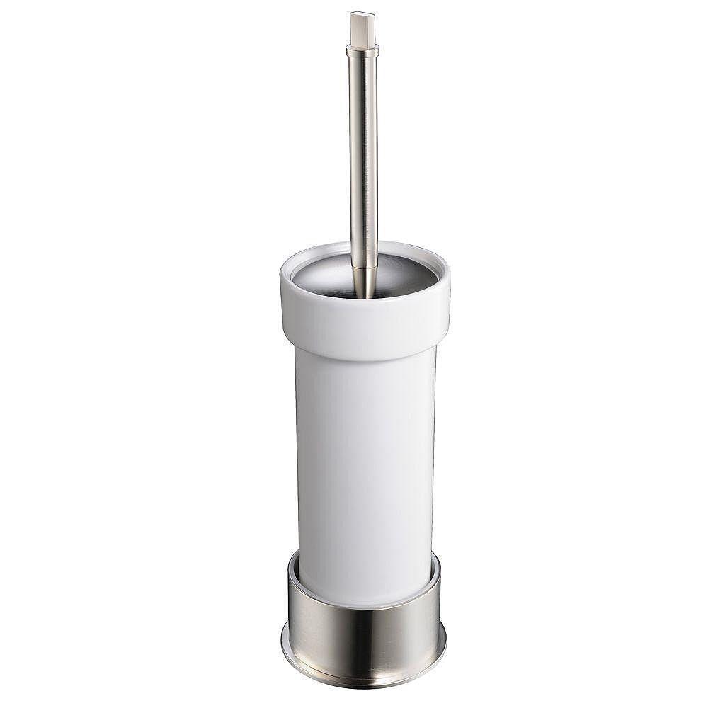 Fresca Glorioso Ceramic Toilet Brush/Holder - Brushed Nickel