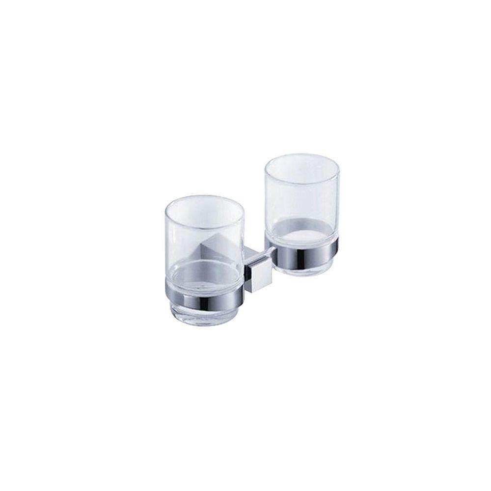 Fresca Ellite Porte-verre double - Chrome