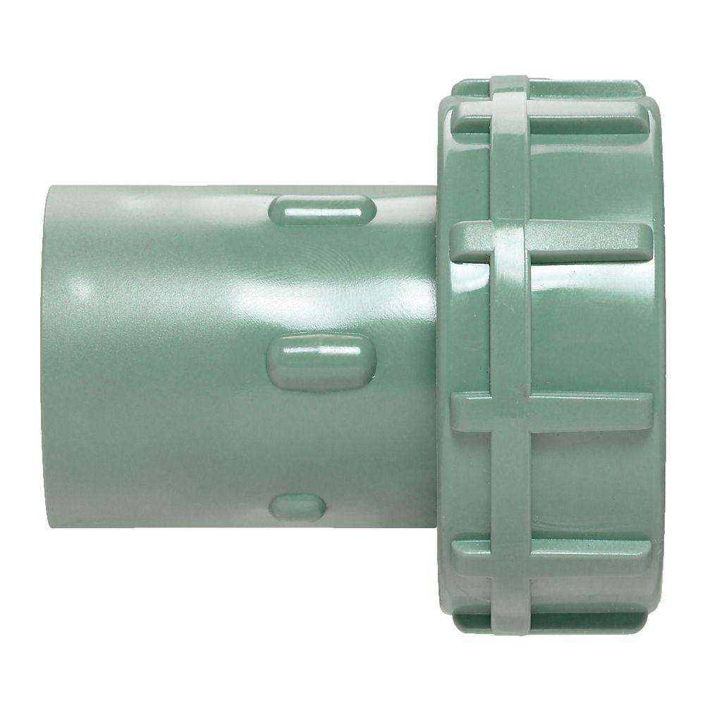 PVC Slip Swivel Adapter in Green