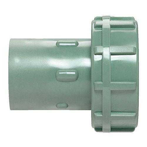 Adaptateur pivotant coulissant en PVC; vert