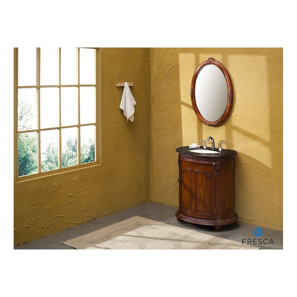 Fresca Carter antique meuble-lavabo de salle de bains à évier simple avec dessus de comptoir noir galaxie