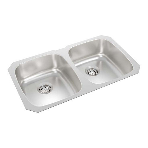 31-inch x 18-inch x 7-inch Deep Double Bowl Undermount Kitchen Sink
