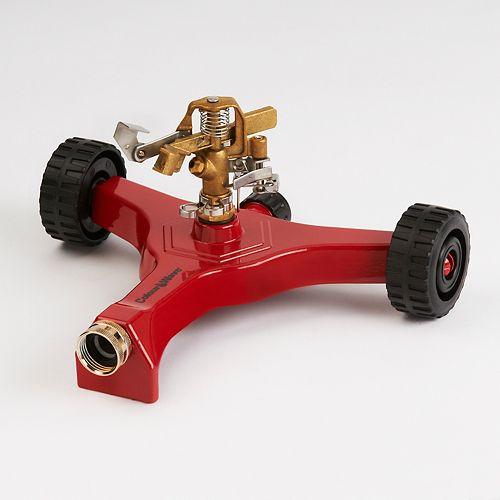 Arroseur  à pulsations avec base sur roues (rouge)