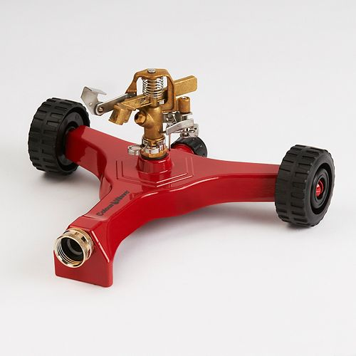 Wheel Base Pulsating Sprinkler in Red