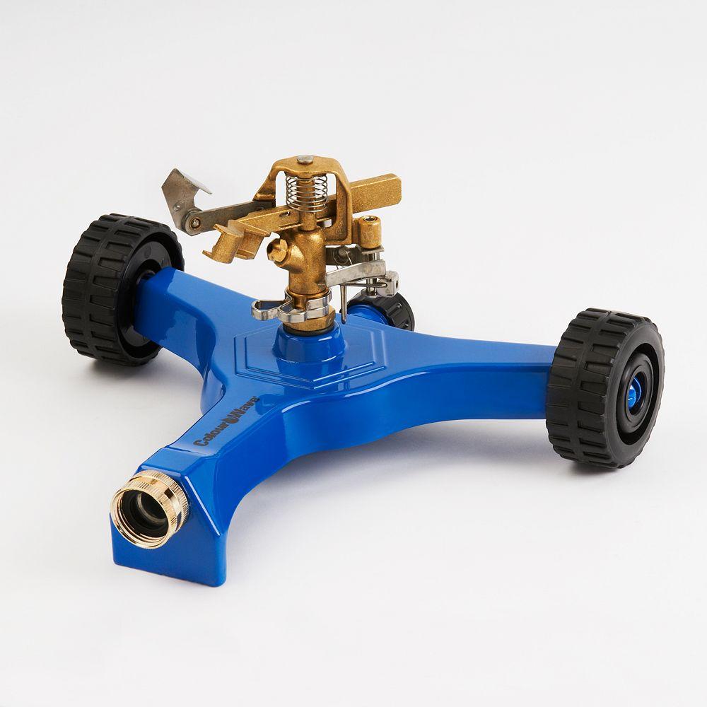 Colourwave Arroseur  à pulsations avec base sur roues (bleu)