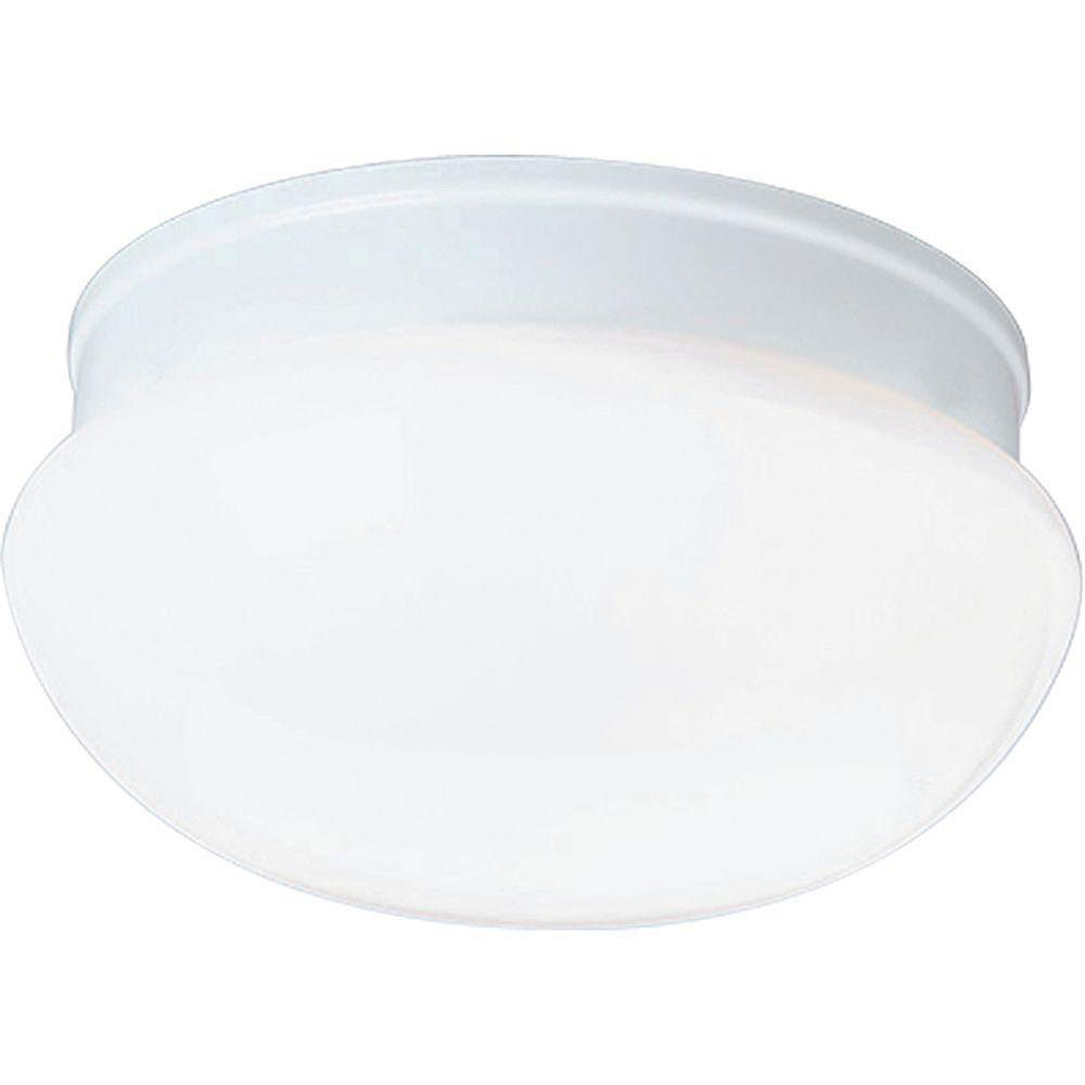 Progress Lighting Plafonnier à 1 Lumière - fini Blanc