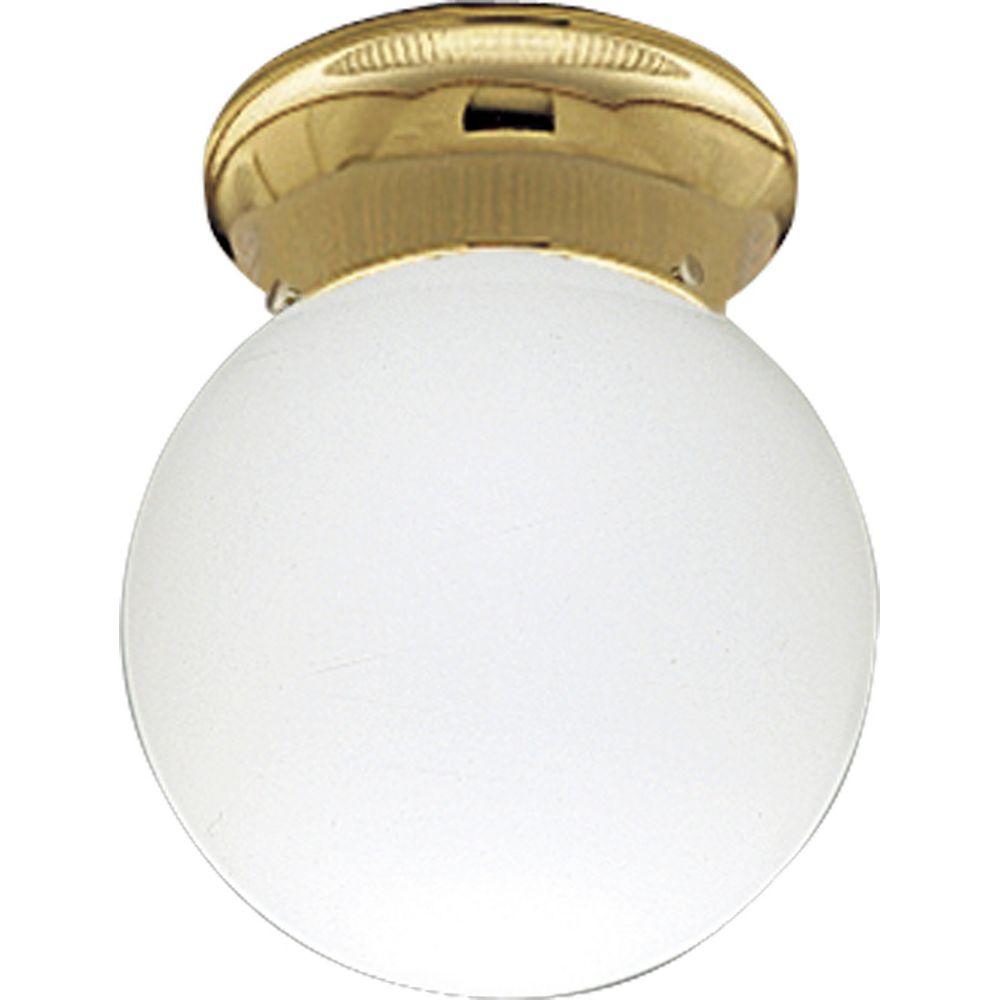 Progress Lighting Plafonnier à 1 Lumière - fini Laiton Poli