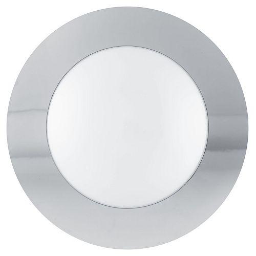 Eglo Palmera plafonnier chrome avec verre givré opaque