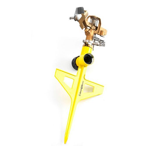 Pulsating Brass Sprinkler in Yellow