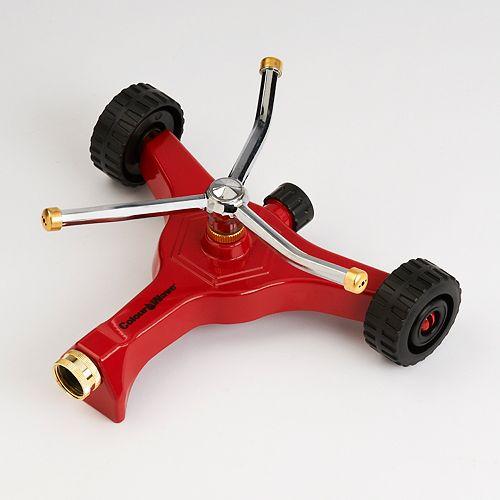 Colourwave Arroseur  pivotant avec base sur roues (rouge)
