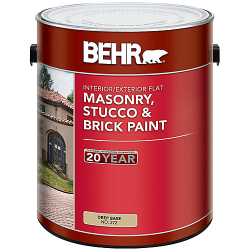 Masonry, Stucco & Brick Paint Flat, Deep Base, No. 272, 3.43 L