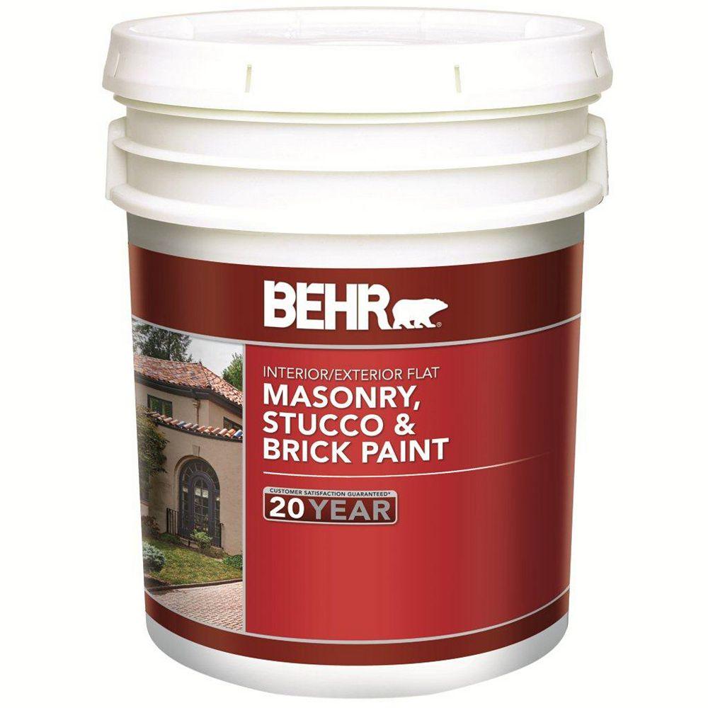 BEHR Masonry, Stucco & Brick Paint Flat, Deep Base, No. 272, 17.1 L