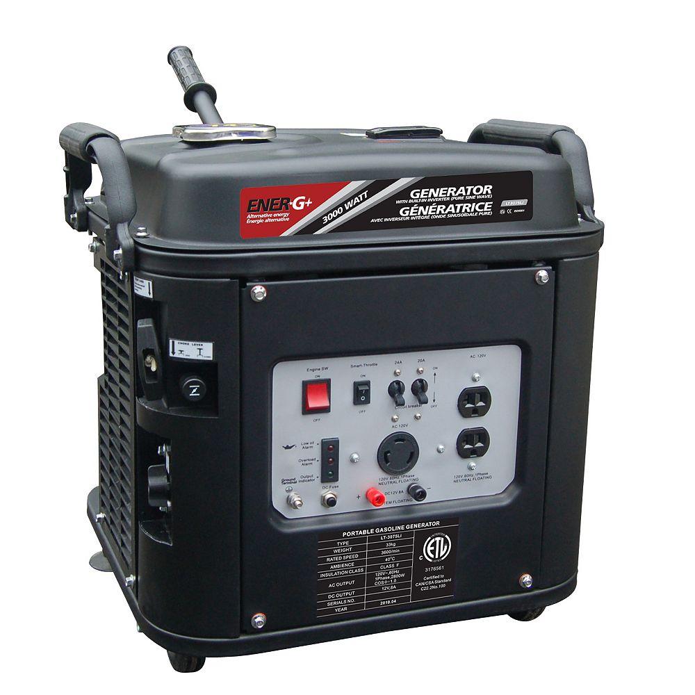 EnerG+ Génératrice Éner-G+ LT3075Li moteur 4 temps OHV à essence à faible niveau de bruit avec inverteur