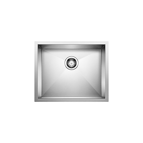 Quatrus U1 22-inch x 18-inch Undermount Stainless Steel Kitchen Sink