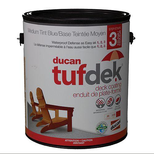 Tufdek  étape 3, la troisième étape  dans le système tufdek. Celle-ci fournit  la couleur et la protection UV.