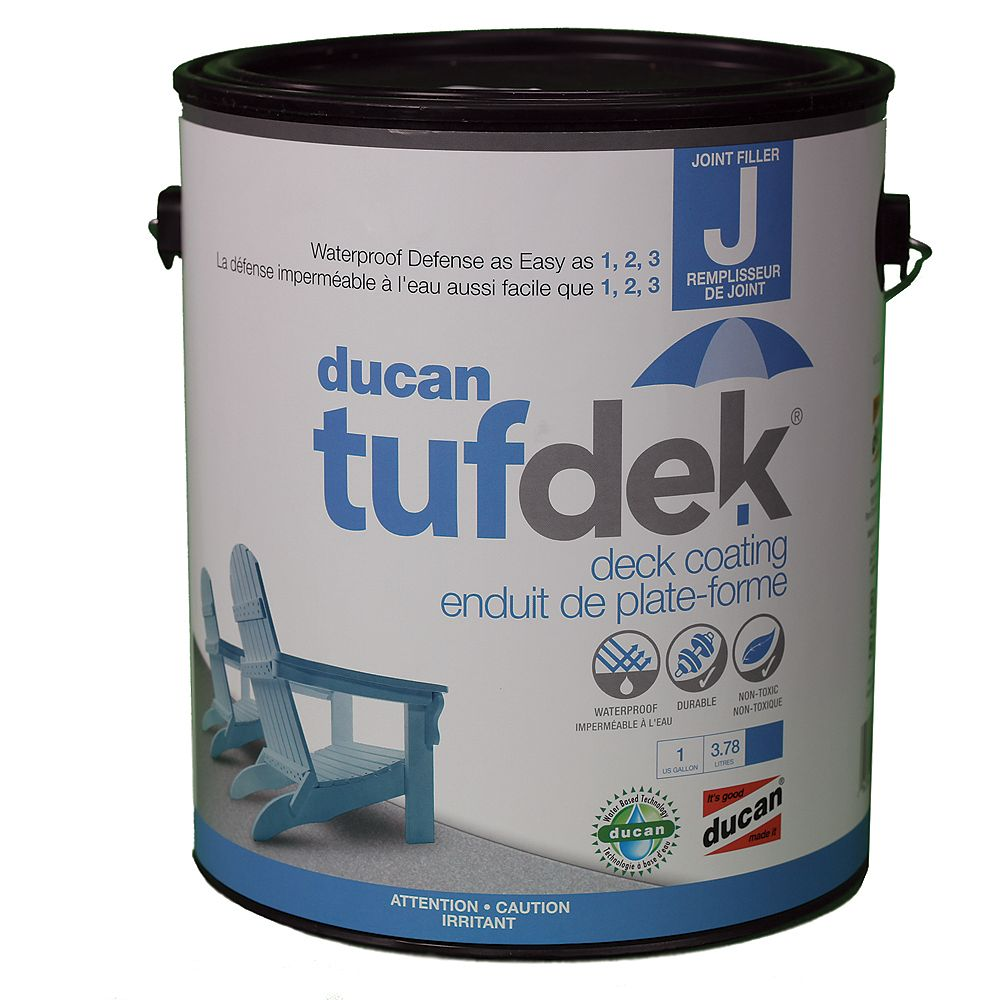 Ducan Tufdek Tufdek Filler for the Tufdek System. Used to fill plywood seams, screw holes and indentations and the transistion from flashing to deck.