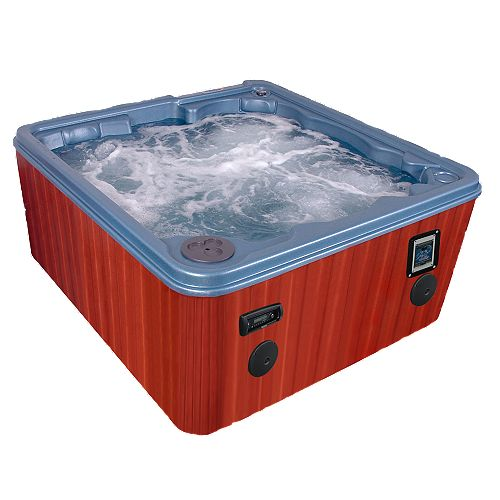 Key Largo 8-Person 70-Jet Spa Pumps Bromine Salt System, WOW Sound with FREE ENERGY SAVER PACKAGE
