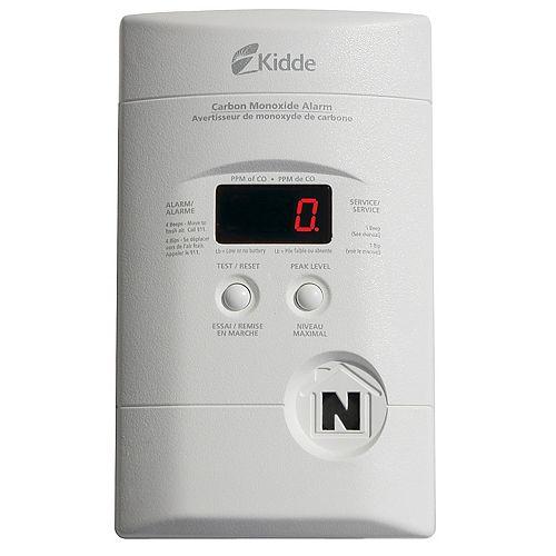 Plug-In Digital Carbon Monoxide Alarm with Battery Back-up