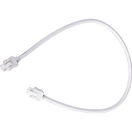 Câble de branchement Hide-A-Lite III - fini Blanc de 24po (61cm)