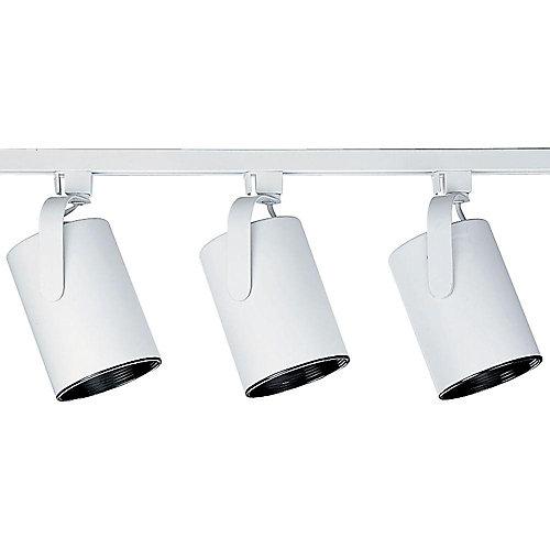 Ensemble de rail à 3 Lumières, Collection Alpha Trak - fini Blanc