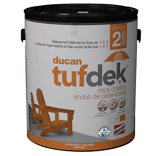 Tufdek étape 2. La deuxième étape dans le système Tufdek apporte une barrière caoutchouteuse et une surface antidérapante.