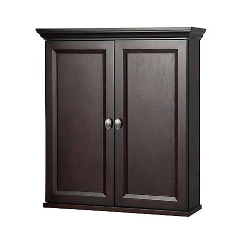 Teagen 25-1/2-inch W x 28-inch H x 7-1/2-inch D Bathroom Storage Wall Cabinet in Dark Espresso