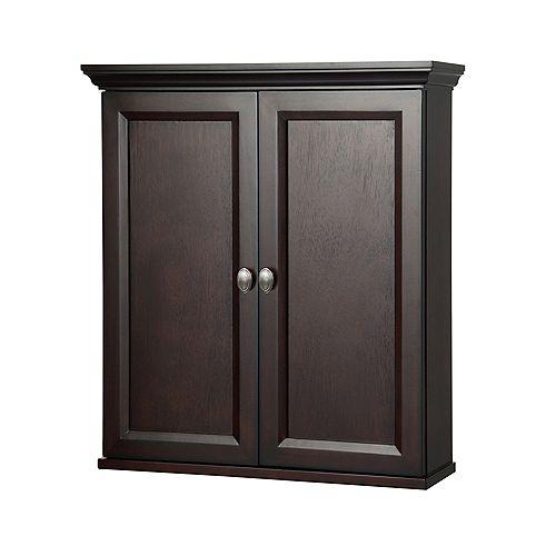 Foremost Teagen 25-1/2-inch W x 28-inch H x 7-1/2-inch D Bathroom Storage Wall Cabinet in Dark Espresso