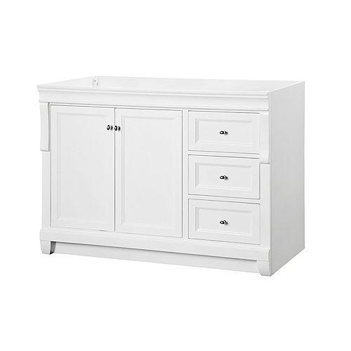 Naples 48-Inch Vanity Cabinet in White