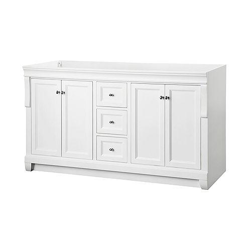 Naples 60-Inch Vanity Cabinet in White