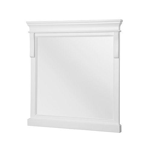 Naples blanc Miroir de 30 po
