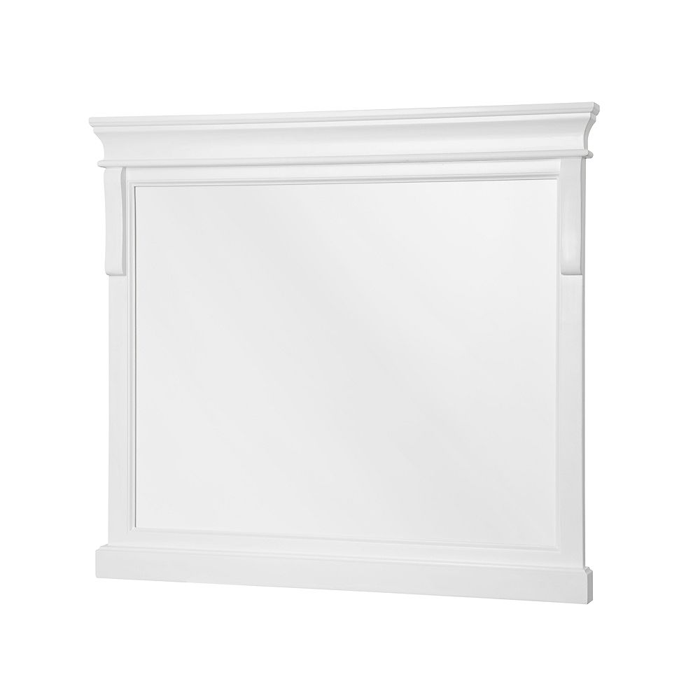 Foremost Naples blanc Miroir de 36 po