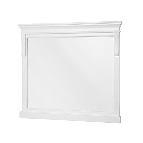 Naples blanc Miroir de 36 po