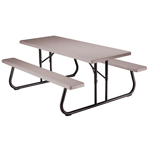 6 ft. Folding Picnic Table in Putty