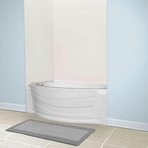 American Standard Baignoire en acrylique pour droitier Jasper Alcove Oval en blanc