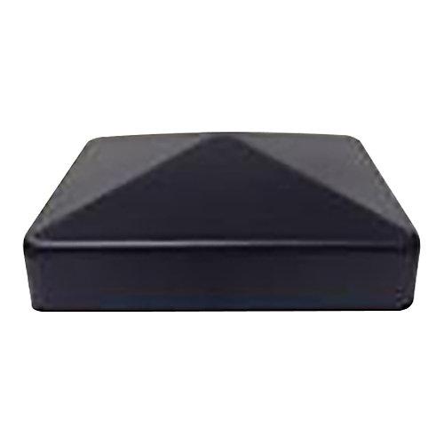 Capuchon de poteau 6x6 en métal galvanisé noir