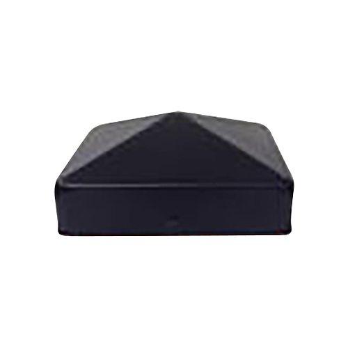 4 inch x 4 inch Black Galvanized Metal Post Caps