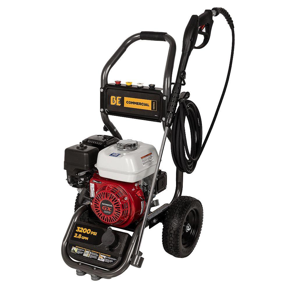 BE Power Equipment 3,200 PSI - 2.8 GPM Honda GX200 Pressure Washer