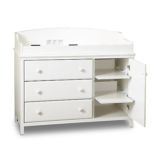 Cuddly Changing Table Pure White
