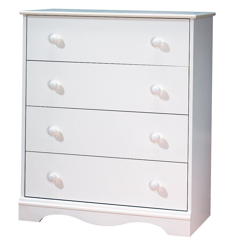 South Shore Commode à 4tiroirs Tender Dreams, 30,8po x 35,87po x 15,75po, blanc