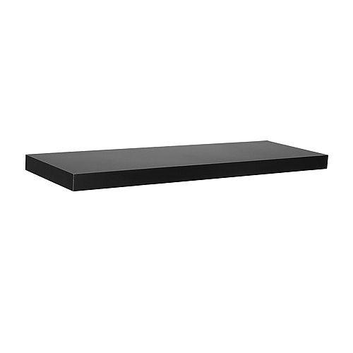 "Home Decorators Collection 24"" Black Slim Floating Shelf"