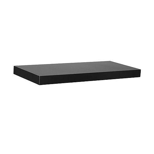"18"" Black Slim Floating Shelf"