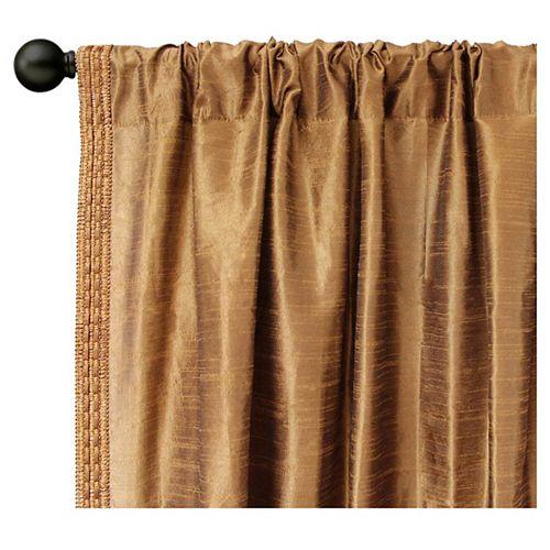 Rideau de soie faux vison - 44 po x 84 po