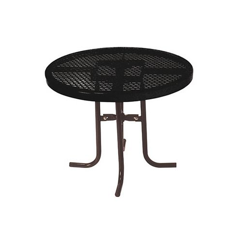 36-inch Commercial Round Table in Black