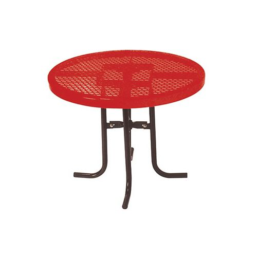 36-inch Commercial Round Table in Red