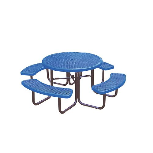 46-inch Commercial Round Table in Blue