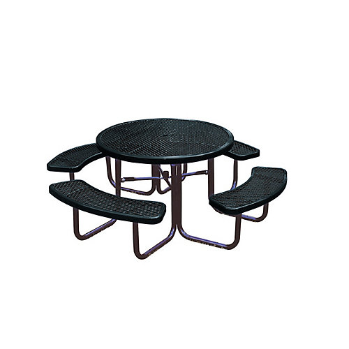 46-inch Commercial Round Table in Black