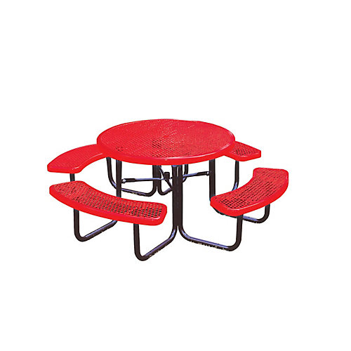 46-inch Commercial Round Table in Red